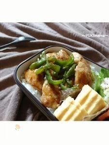 お弁当に〜醤油麹ヨーグルトのささみピーマン(作りおき)〜