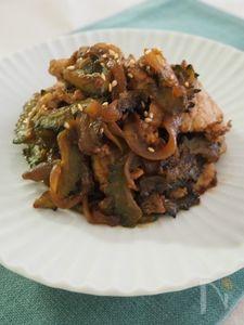 ゴーヤと豚のピリ辛味噌炒め