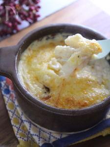 大葉香る もちと大根の豆乳グラタン