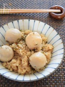 里芋と塩こんぶの炊き込みごはん