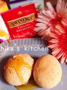 捏ねない&発酵ナシ♪ポリ袋で紅茶香るカリもちボール♥︎