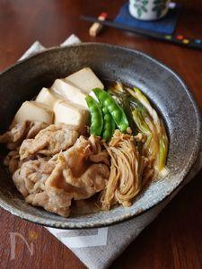 豚ロース肉でさっぱり!肉豆腐