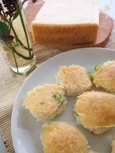 じゃこと枝豆のパルミジャーノ焼きリゾット