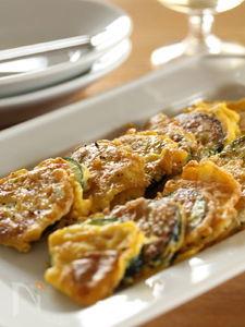 ズッキーニのピカタチーズ風味