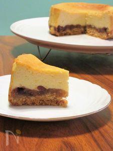 あんこのベークドチーズケーキ
