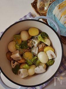 ハーブチキンと冬野菜のポットロースト