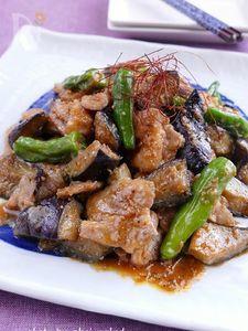 ピリ辛味噌で豚バラ茄子炒め