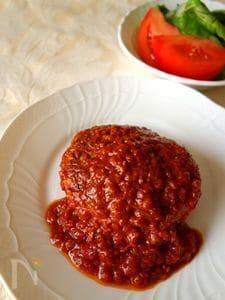 トマト煮込みハンバーグ