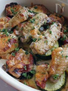 手羽中と夏野菜のオーブン焼き