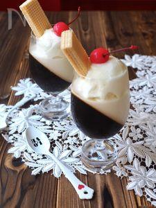 斜めゼリー〜コーヒー&ミルク