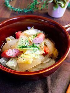 あと一品☆ソーセージと白菜のスープ煮
