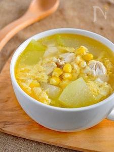冬瓜と鶏のたまごスープ