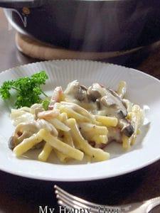 ストウブ鍋で簡単茹でないマカロニグラタン