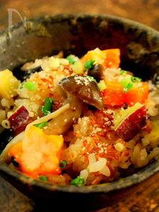 秋色のパルミジャーノ・レッジャーノ炊き込みご飯