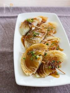 玉ねぎの串焼き 中華風照り焼きソース