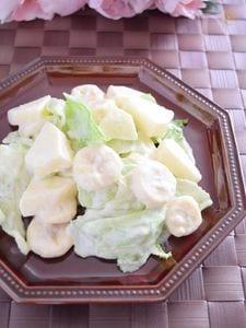 バナナとりんごのヨーグルトマヨサラダ