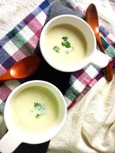 カリフラワーとゴボウの簡単!食べるスープ♡
