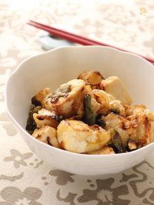 さっぱりなのにご飯にも合う!豆腐とインゲンのポン酢炒め