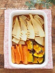 【作り置き】焼きたけのこと野菜の出汁酢びたし