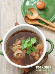 豚肉と金時豆のスープ