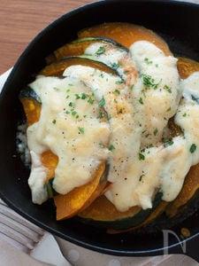 かぼちゃの柚子胡椒マヨチーズ焼き