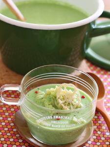 小松菜のスープパスタ