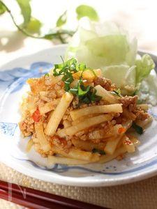 ご飯がすすむ♪大根の韓国風肉みそ炒め