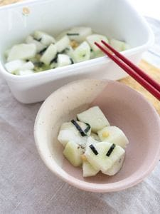 お茶漬けの素で作る長芋のお漬物