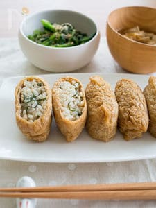大葉鶏そぼろごはんのいなり寿司