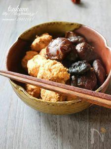 つくねと椎茸の煮物