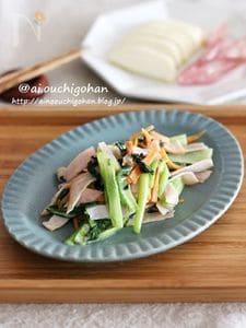 子供が喜ぶあと1品♡小松菜とハムのうまマヨ炒め♡