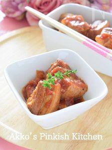 トマト風味の豚バラ角煮♡圧力鍋で作り置き