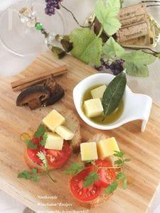 オイル漬けチーズのブルスケッタ