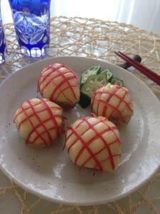 美味しさもお洒落感も最高❣️ひとくちサラダスティック手毬ポテト