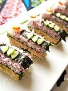 昆布ポン酢醤油そぼろの鯉のぼり押し寿司