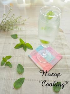 ちょこっとおしゃれな食卓に!「レモンミント氷のレモン水」