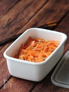 にんじんとツナの生姜きんぴら。
