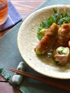 夏野菜の肉巻きソテー