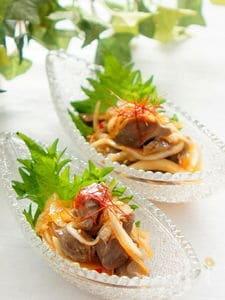 砂肝と新玉ねぎの中華風マリネ