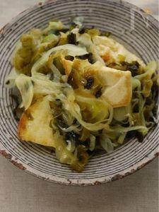 高菜とねぎのおつまみチャンプルー