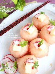 生ハムとチーズの洋風手まり寿司