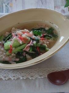 小松菜の中華風スープ