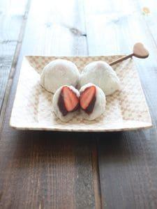 【レンジで和菓子】いちご大福