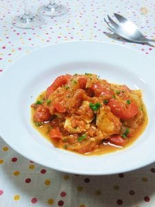 鶏胸肉とパプリカのトマト煮