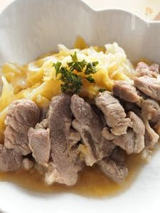 豚肉とキャベツの塩煮込み☆作業時間10分以内のご馳走メニュー