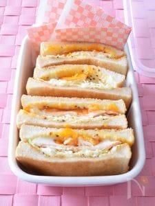 ハムエッグトーストサンド 作り置きレシピ 半熟卵がトロ~リ♪
