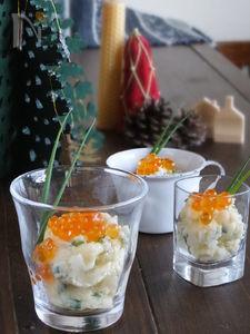 パーティにも♪ちょっと和風のイクラのせ味噌クリームポテト