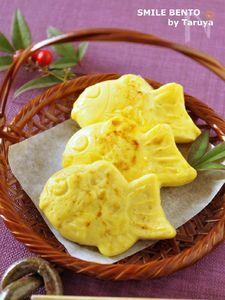 ミニたい焼きの卵焼き