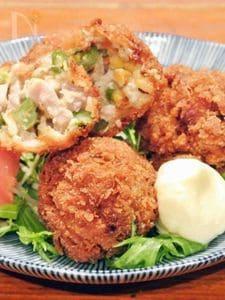 鶏もも肉といんげんのコーンクリームコロッケ