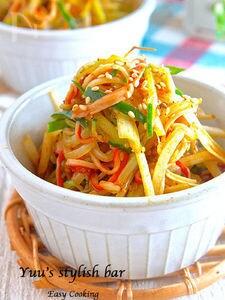 抱えて食べたい♡『もやしとネギのピリ辛中華サラダ』